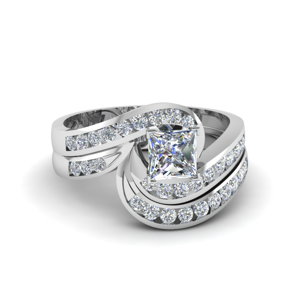 Princess Diamond Bridal Ring Set