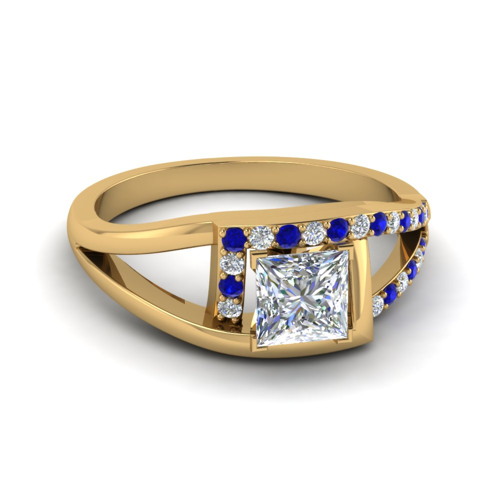 Princess Cut Sapphire Engagement Rings
