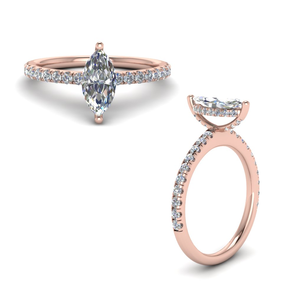 Diamond Prong Marquise Cut Petite Ring