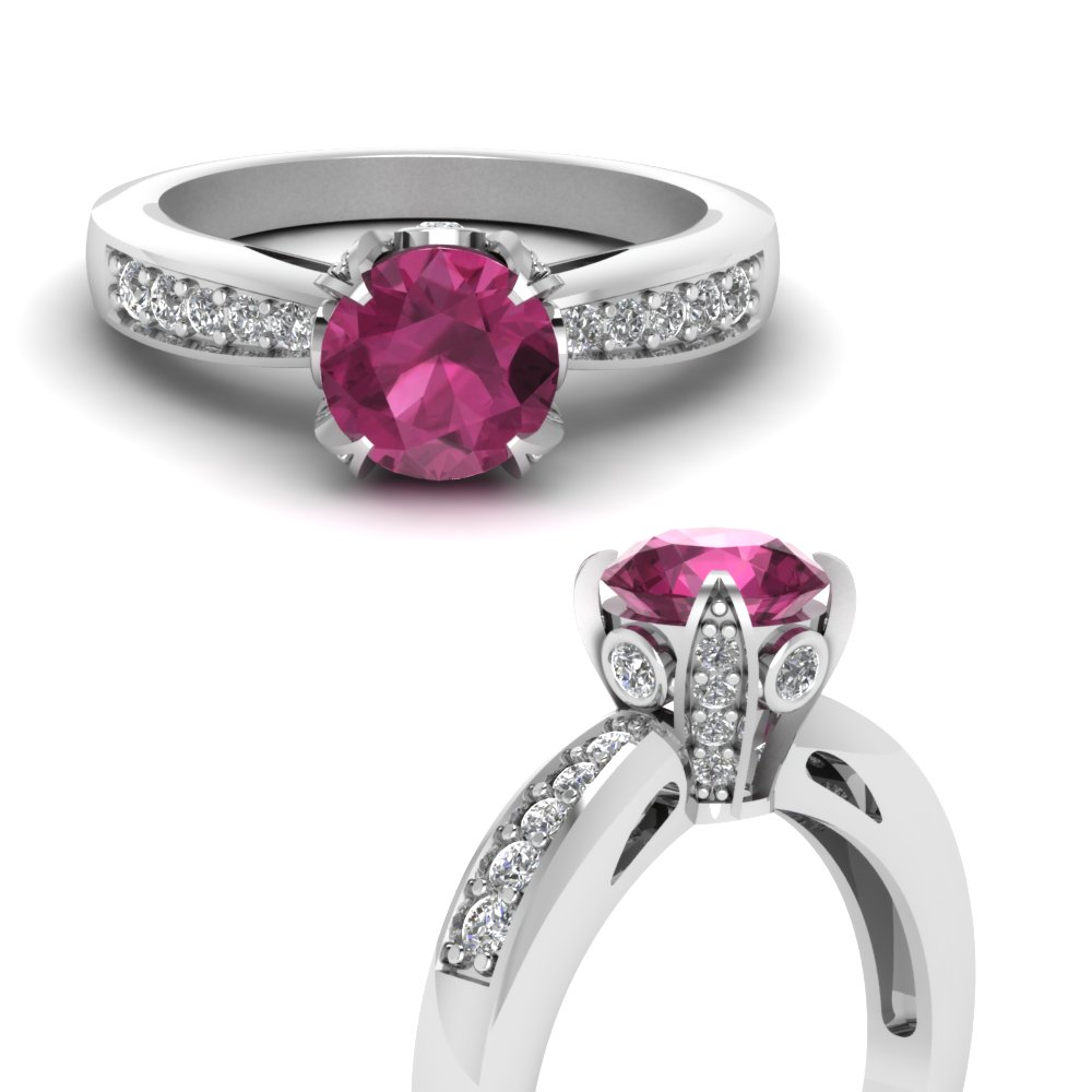 7587a3ebb4414c pave wrap pink sapphire engagement ring with diamonds in  FDENR8596RORGSADRPIANGLE3 NL WG GS