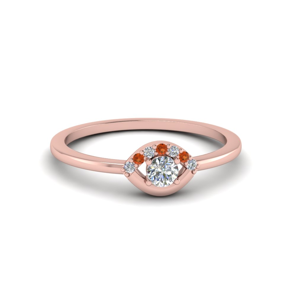 Small Diamond Wedding Anniversary Ring For Her With Orange Shire In Fd8004rorgsaor Nl Rg