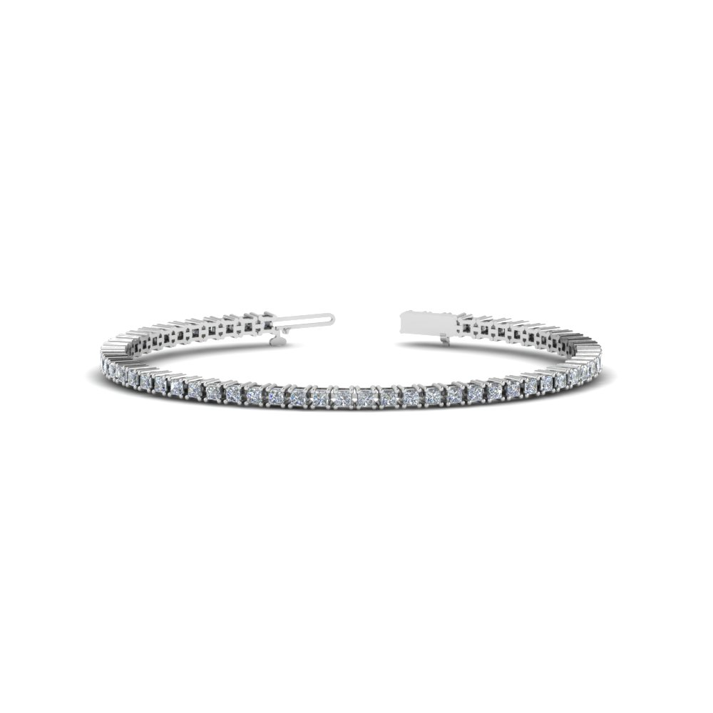 Stunning 3 Carat Princess Diamond Bracelet