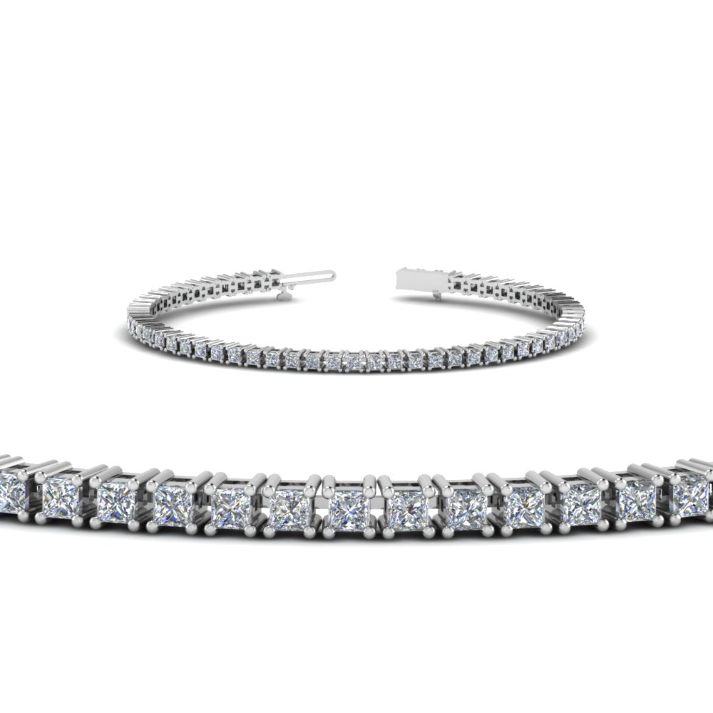 Princess Cut Diamond Bracelet For Her