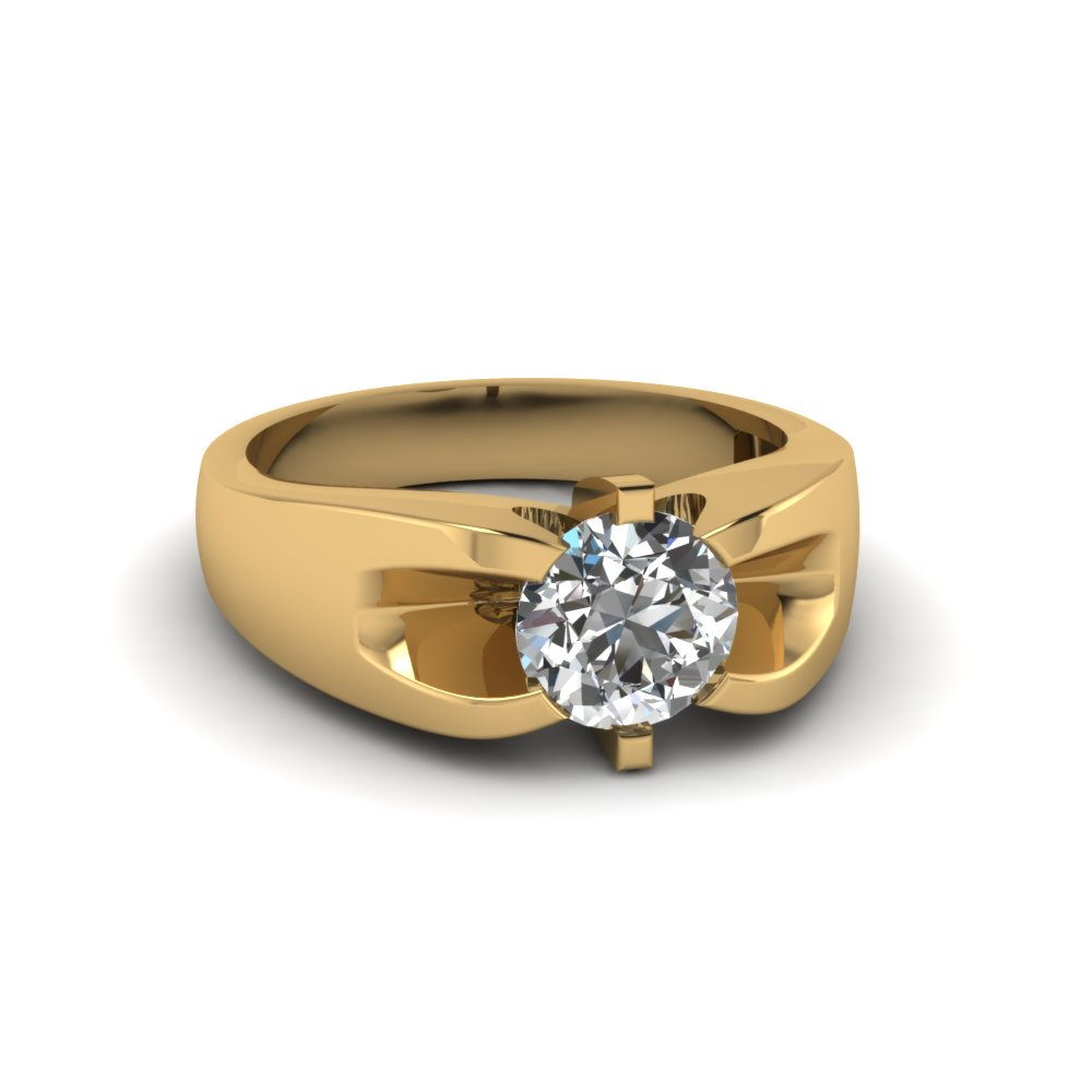 classic 14k yellow gold mens wedding rings |fascinating diamonds