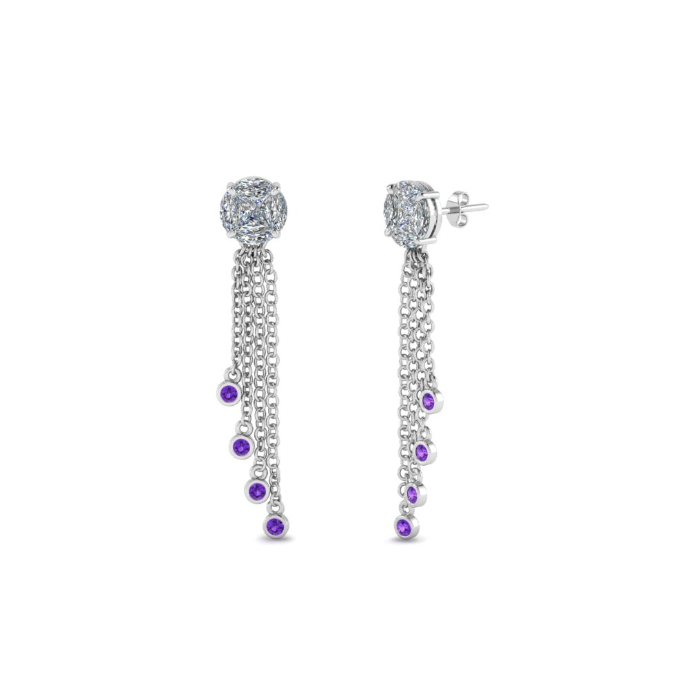 Tassel Purple Topaz Earring