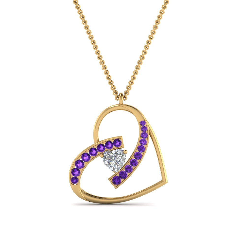 Classic Purple Topaz Necklace