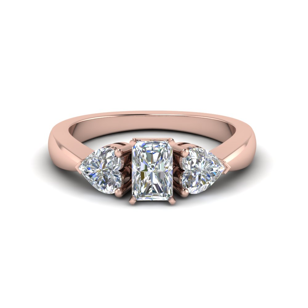 Radiant Diamond Rose Gold Ring