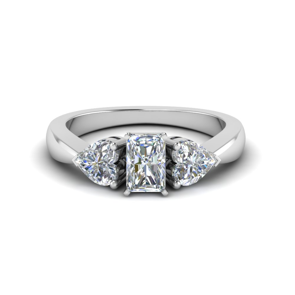 three promise engagement ring in 14k