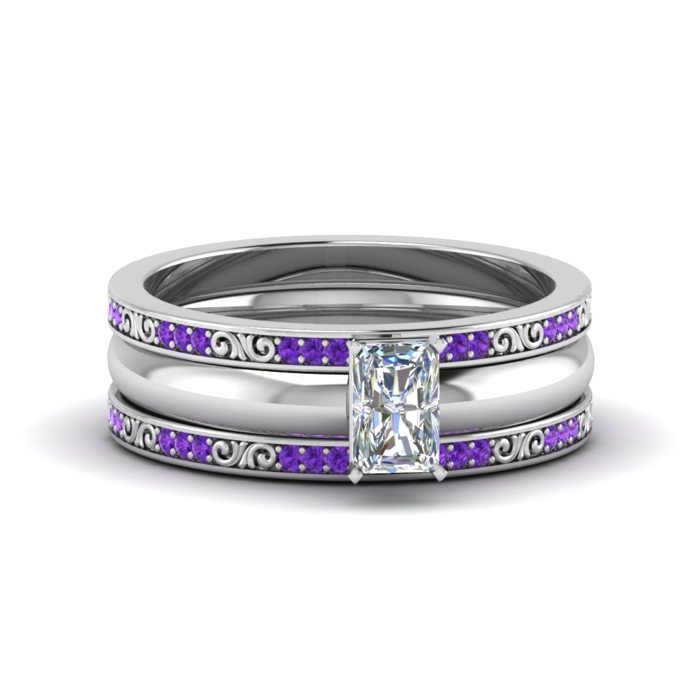 Radiant Cut 3 Piece Diamond Ring