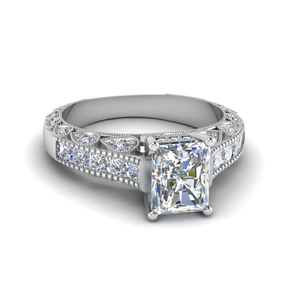Radiant Cut Antique Engagement Ring