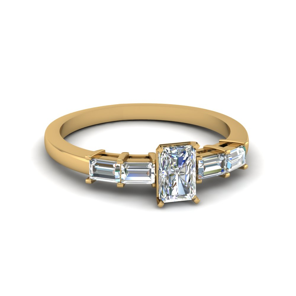 Baguette Diamond Matching Ring