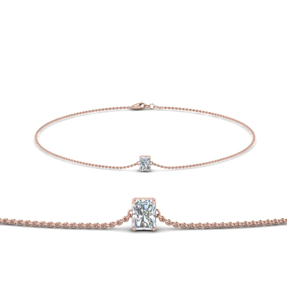 Radiant Diamond Chain Bracelet