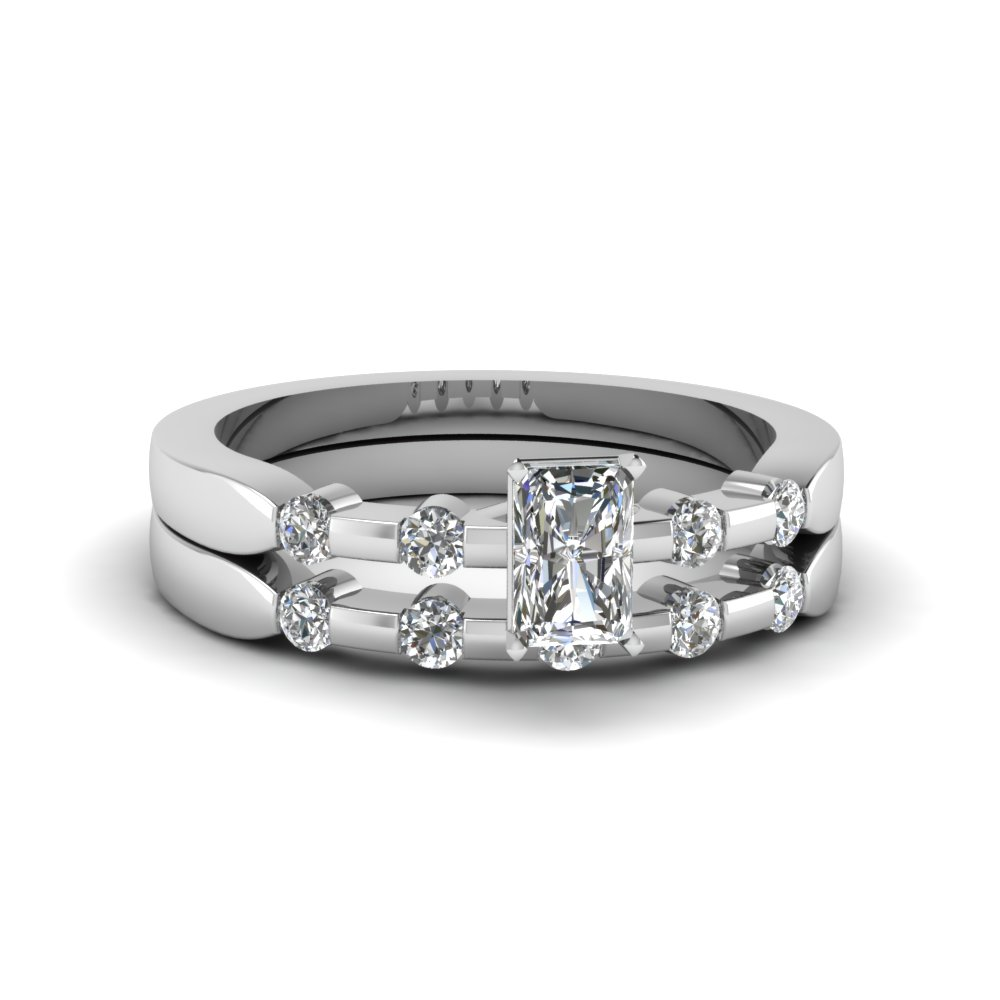 shared prong diamond band for women with blue sapphire in