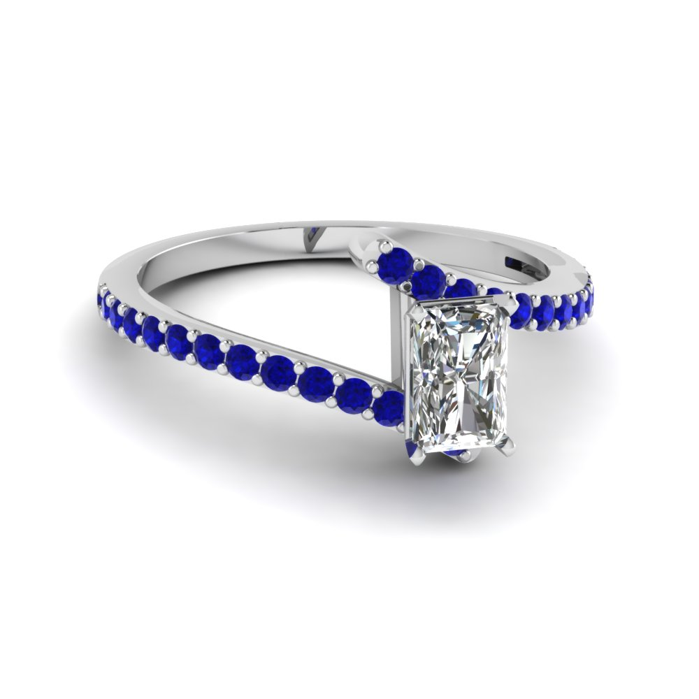 8d676ac6771f7e bypass radiant diamond engagement ring with sapphire in FDENS3007RARGSABL NL  WG GS