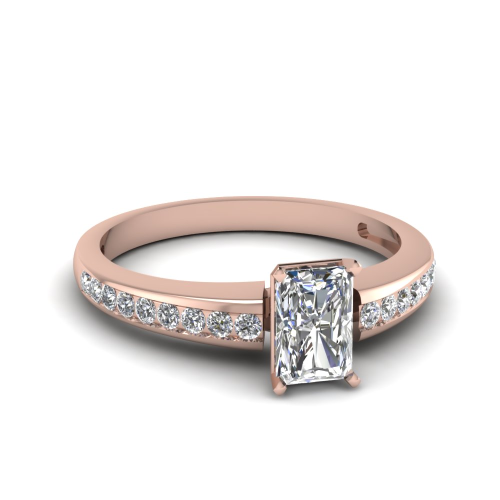 Affordable Radiant Cut Diamond Engagement Ring