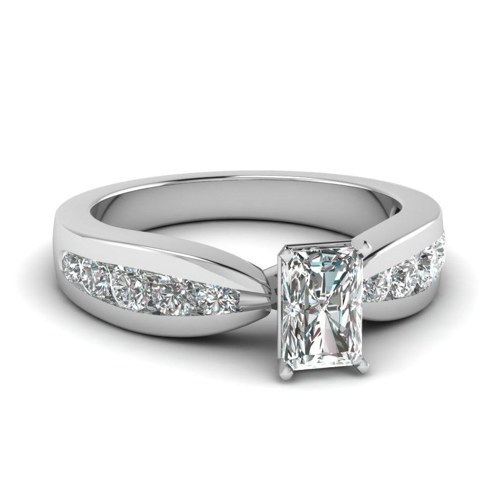 Simple Radiant Cut Diamond Engagement Ring