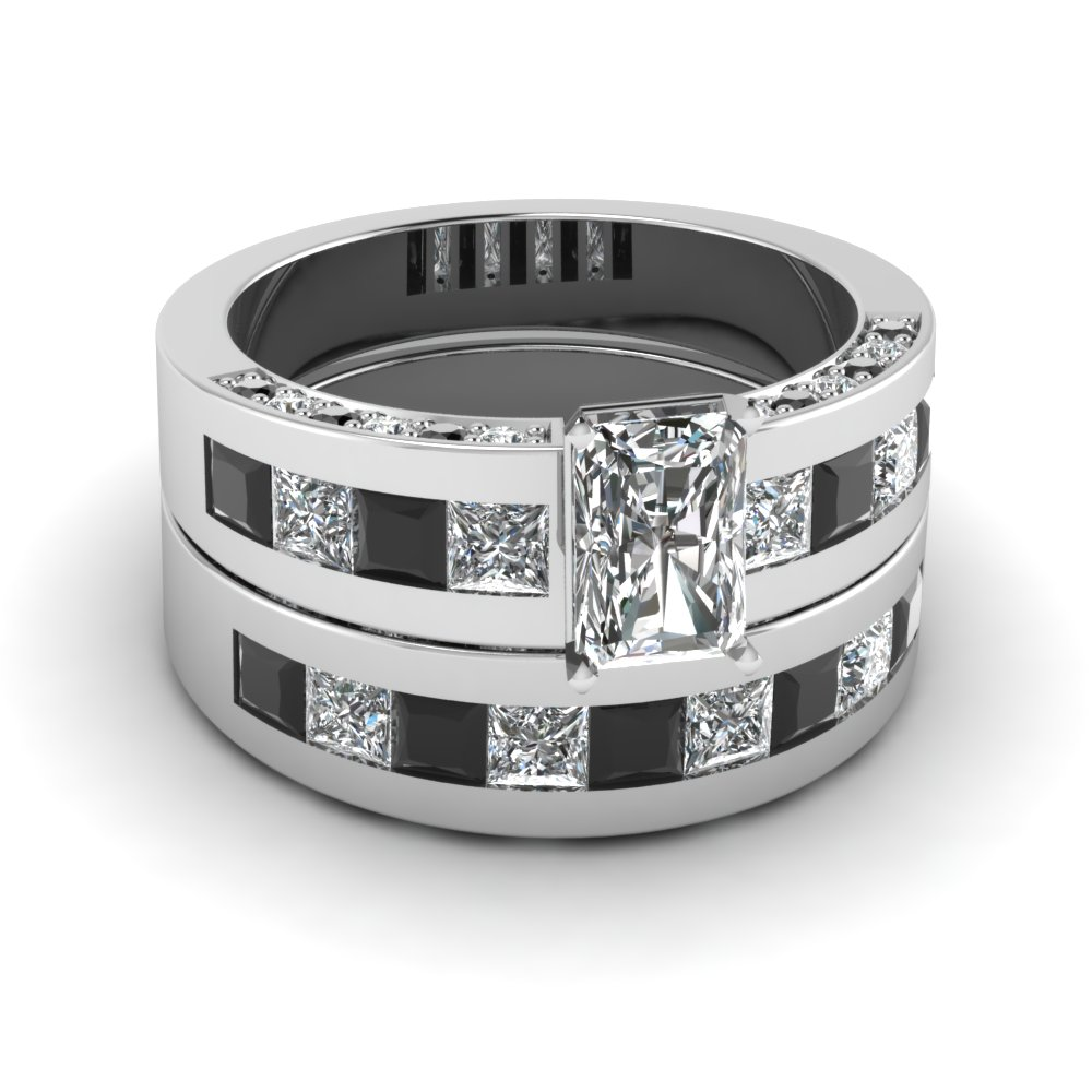 Stunning Black Diamond Wedding Ring Sets | Fascinating Diamonds