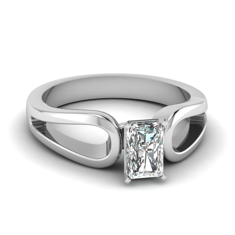 Duo Loop Radiant Solitaire Ring