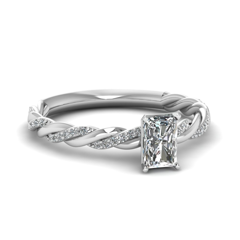 Radiant Cut Half Carat Diamond Rings