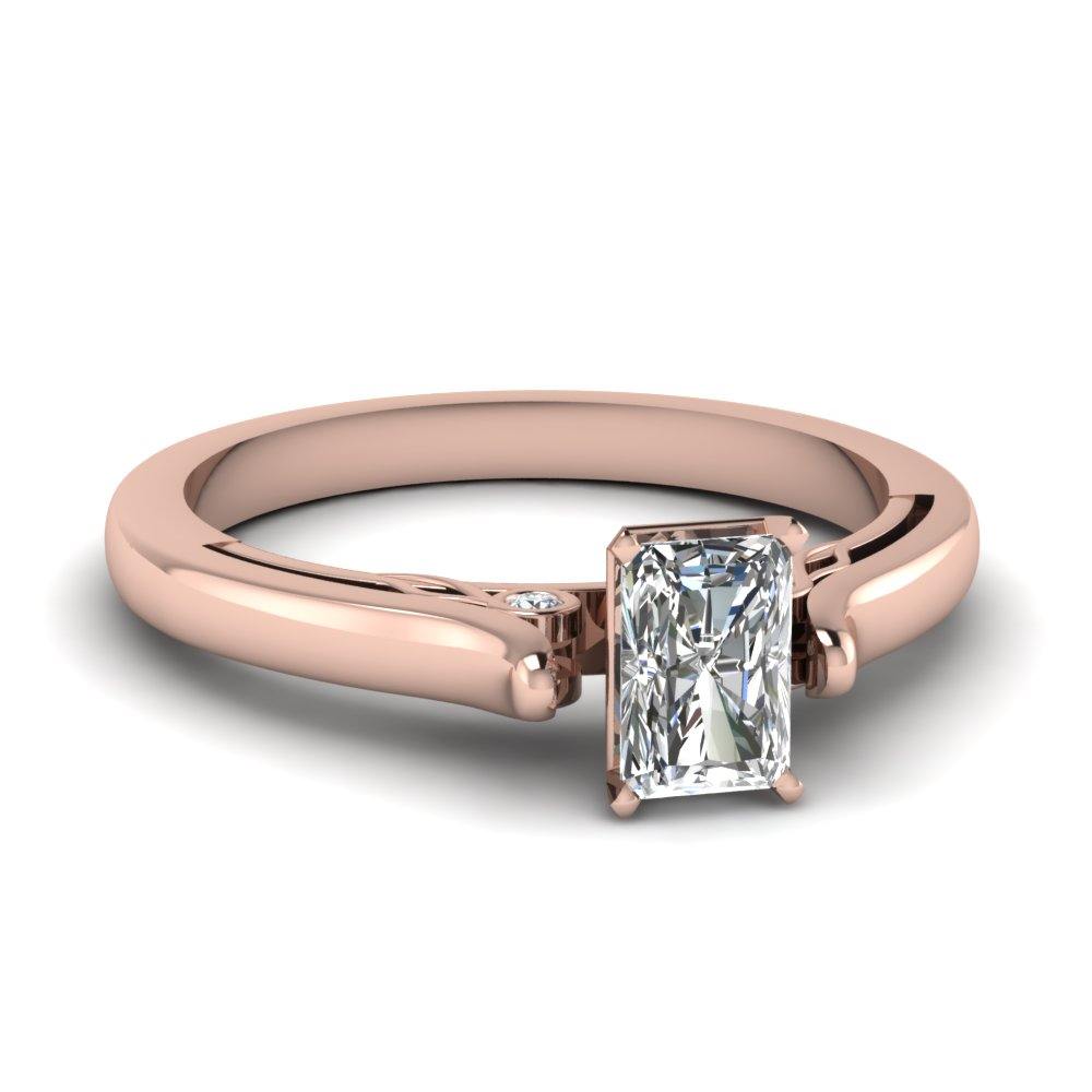 Cathedral Radiant Cut Diamond Ring