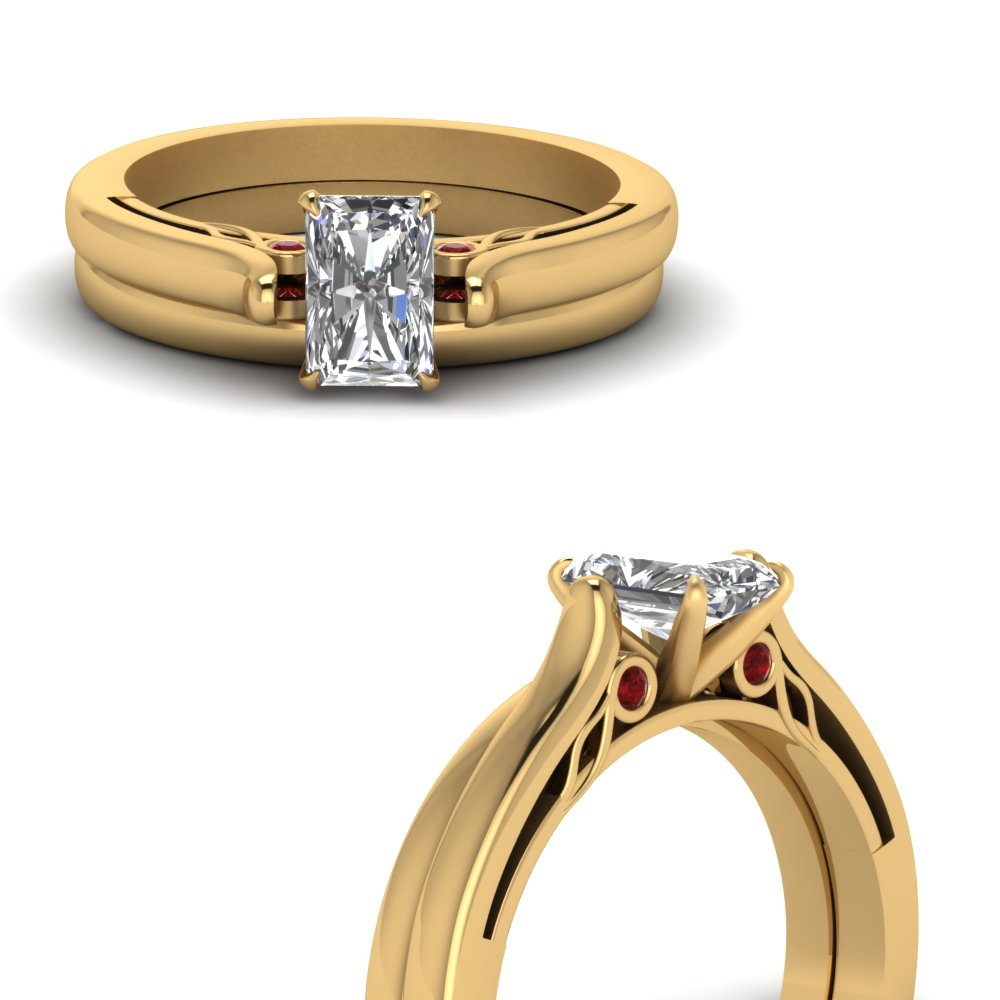 Radiant Cut Wedding Ring Sets