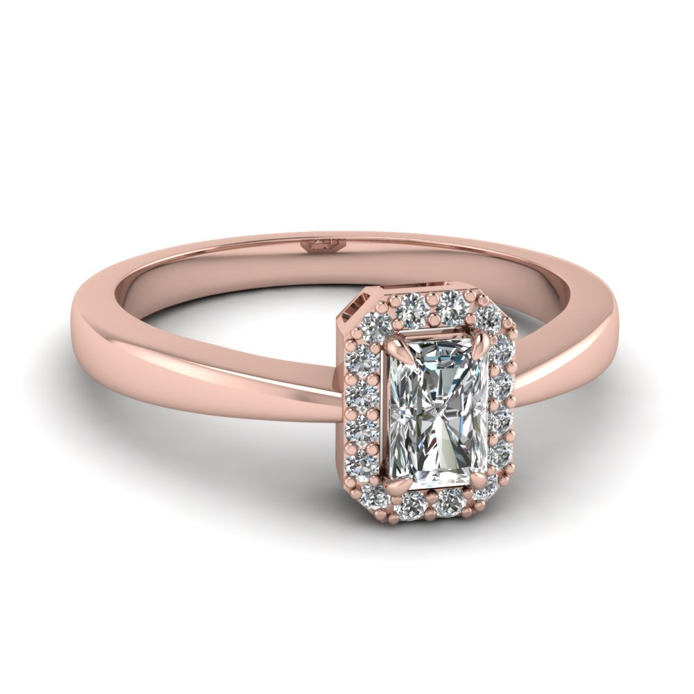 1/2 Karat Radiant Cut Engagement Rings