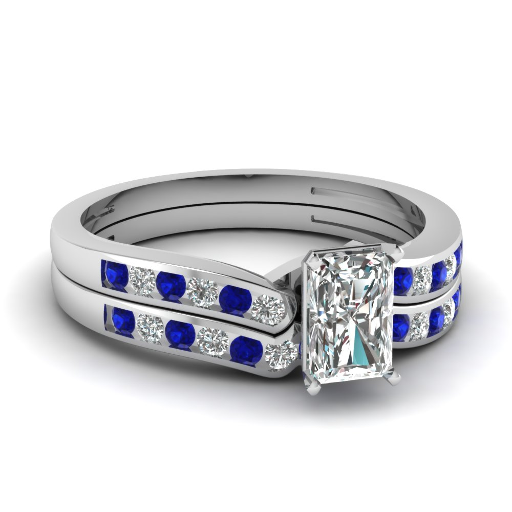radiant cut diamond channel bridal set with sapphire in FDENS3092RAGSABL NL WG.jpg