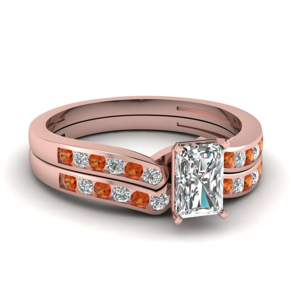 radiant cut diamond channel bridal set with orange sapphire in FDENS3092RAGSAOR NL RG.jpg