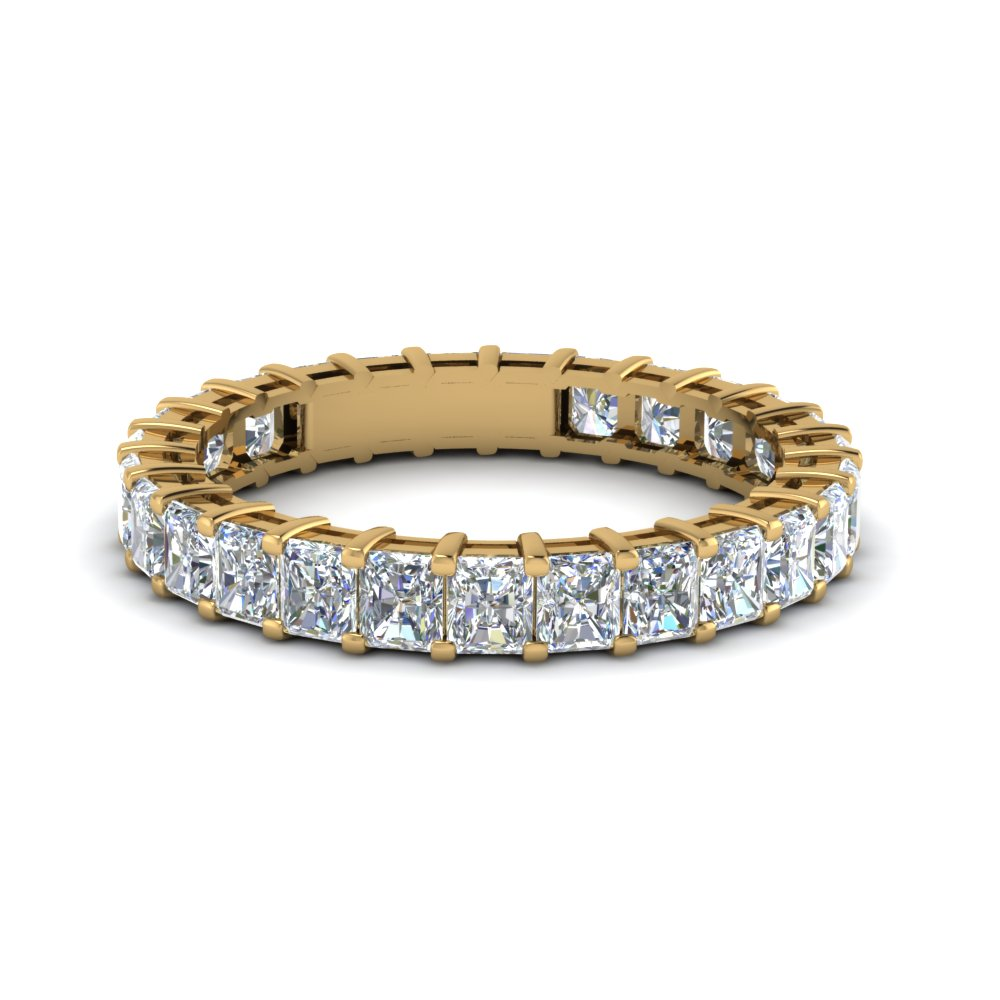 Radiant Eternity 14K Yellow Gold Band