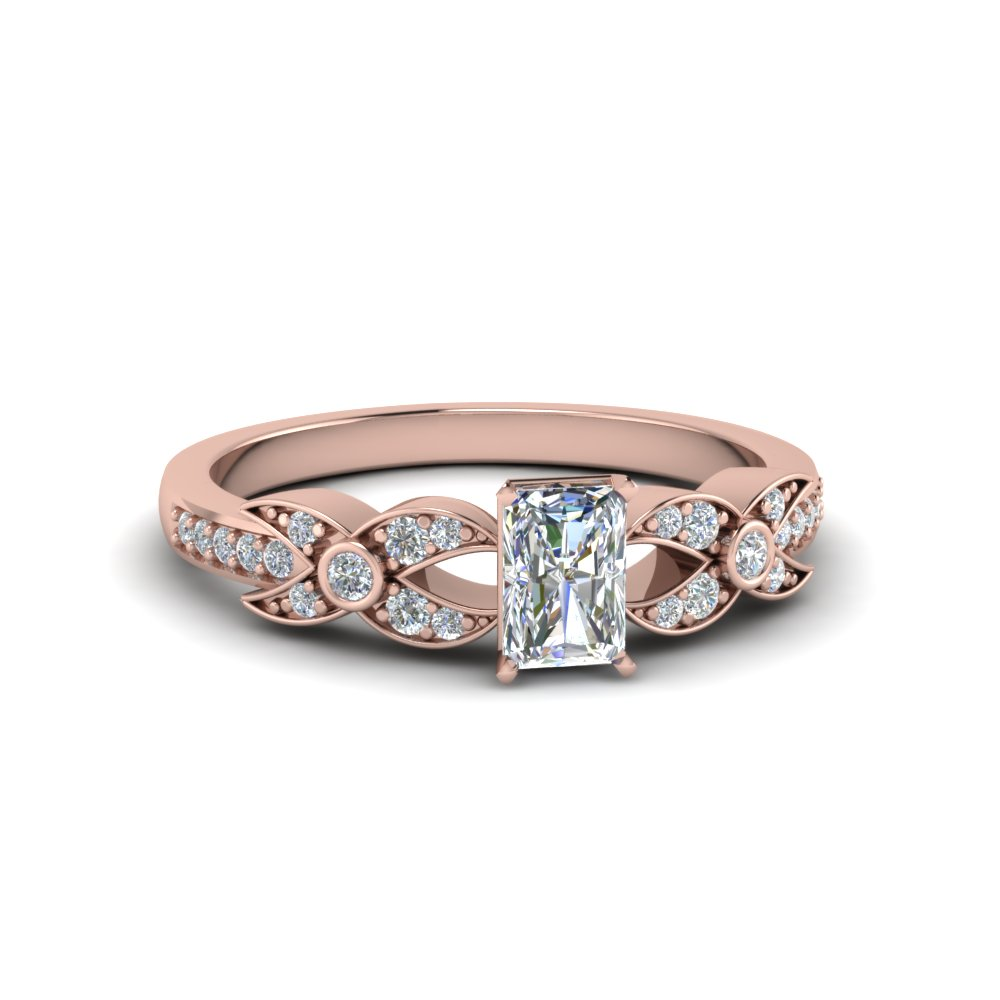Unique Radiant Cut Engagement Ring For Her