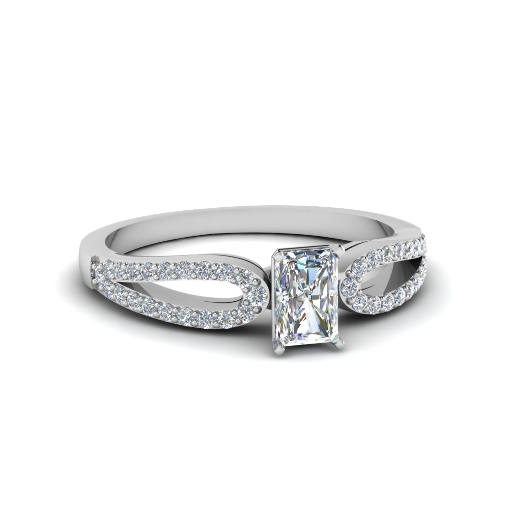 Radiant Cut Petite Engagement Rings