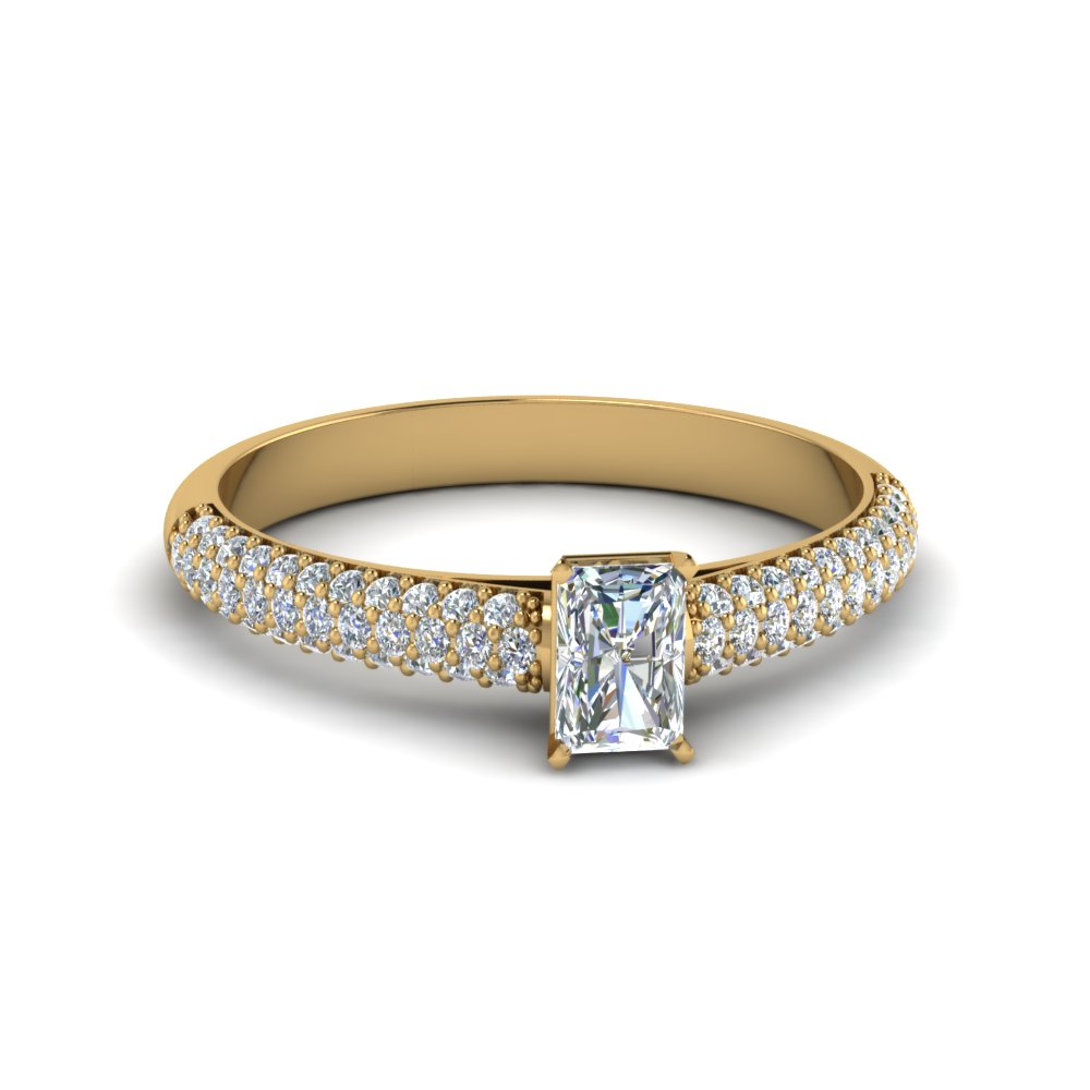 0.75 Ct. Radiant Cut Diamond Engagement Ring For Her