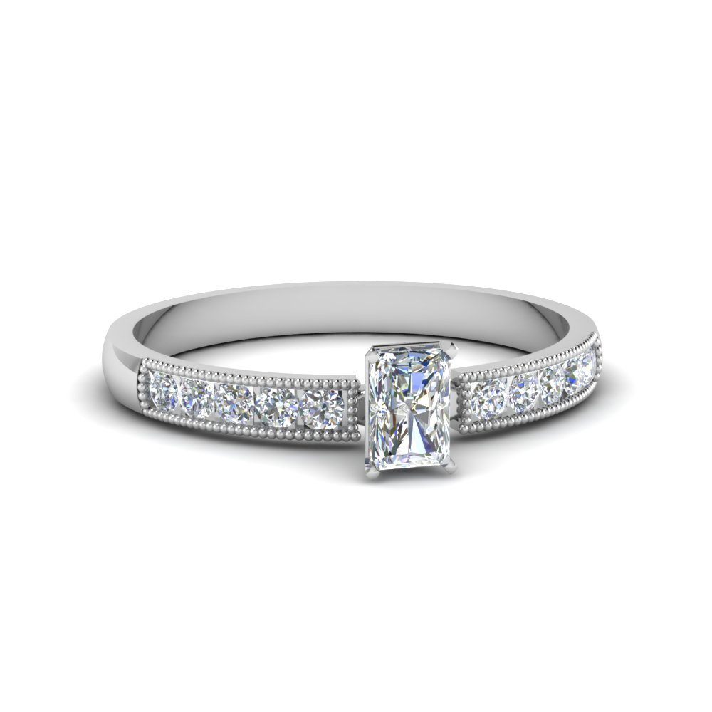 Half Carat Radiant Diamond Rings