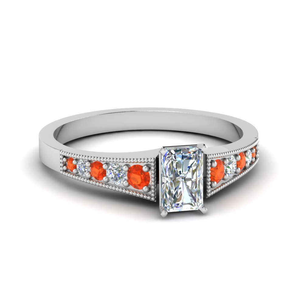 Pave Set Diamond Imperial Topaz Ring