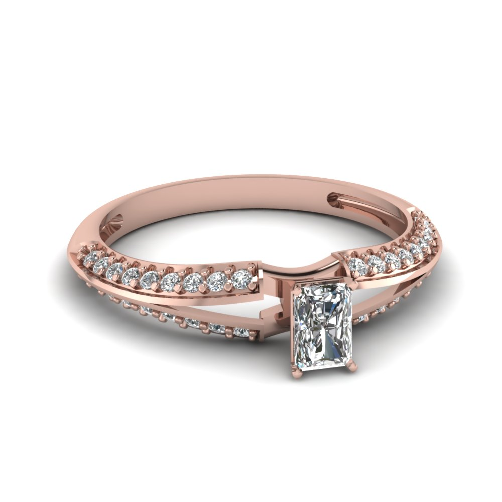 Rose Gold Split Diamond Rings
