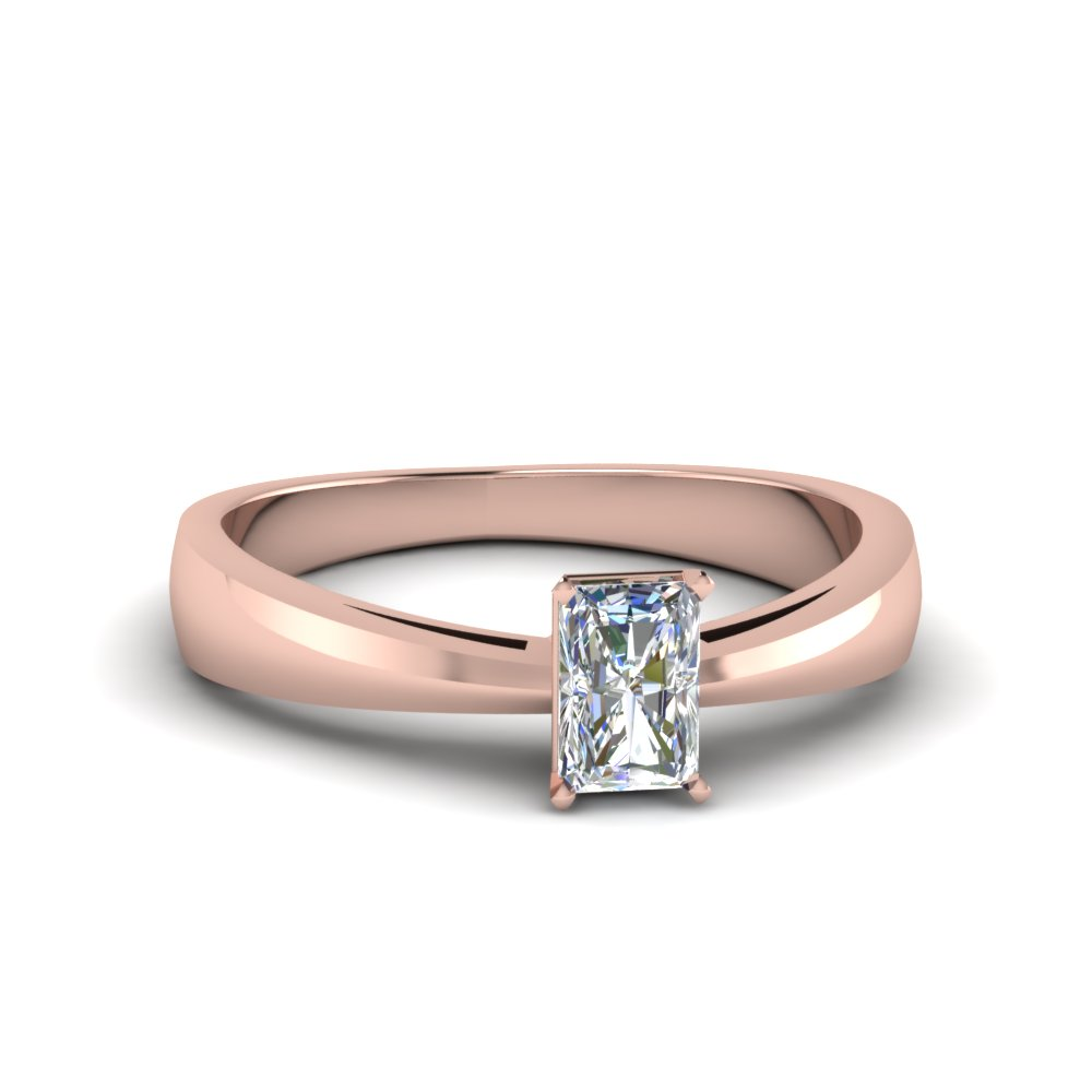 tapered radiant cut solitaire engagement ring in FDENR678RAR NL RG