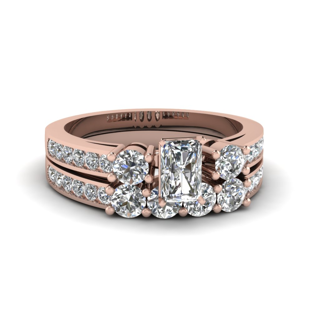 Radiant Cut diamond Ring Set