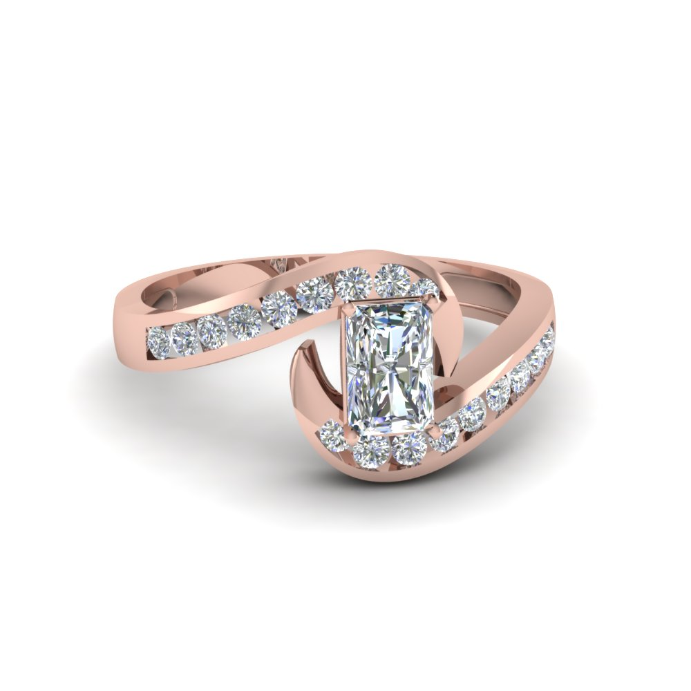 0.75 Carat Radiant Cut Diamond Engagement Ring For Her