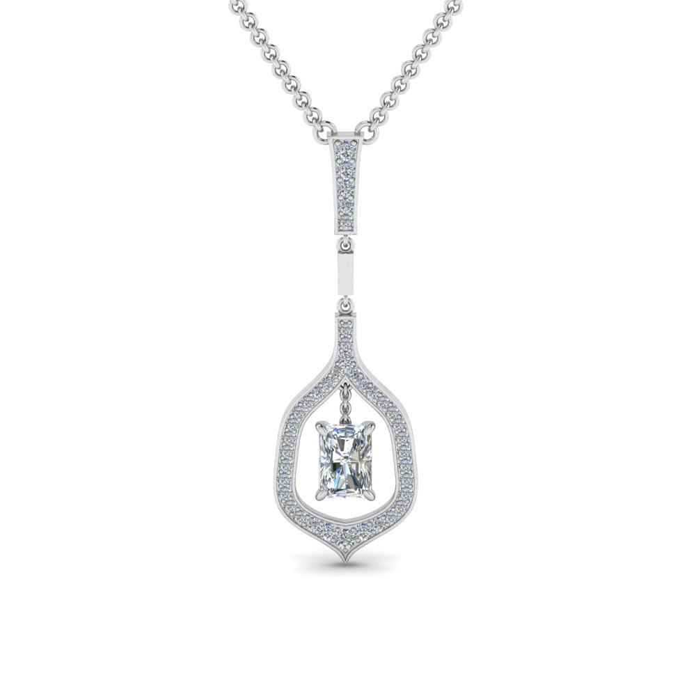 Radiant Drop Diamond Necklace