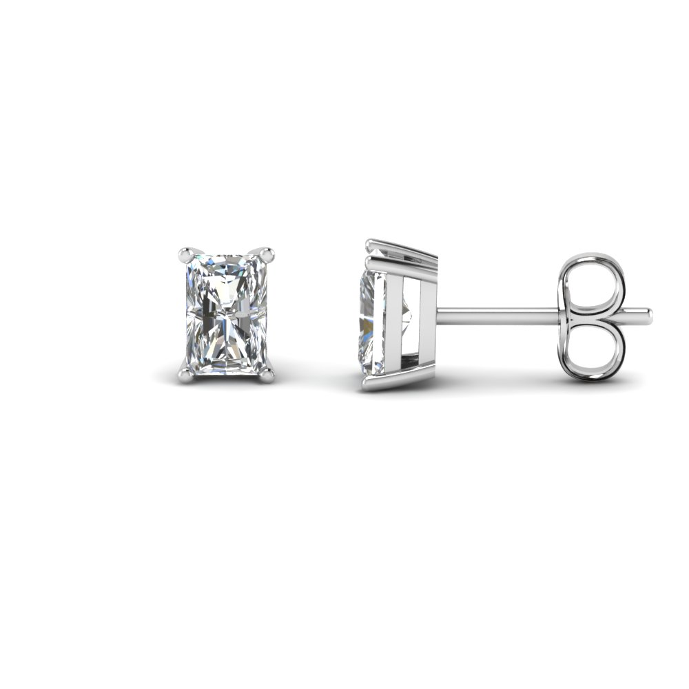 radiant stud diamond earring 2 carat in FDEAR4RA1CT NL WG