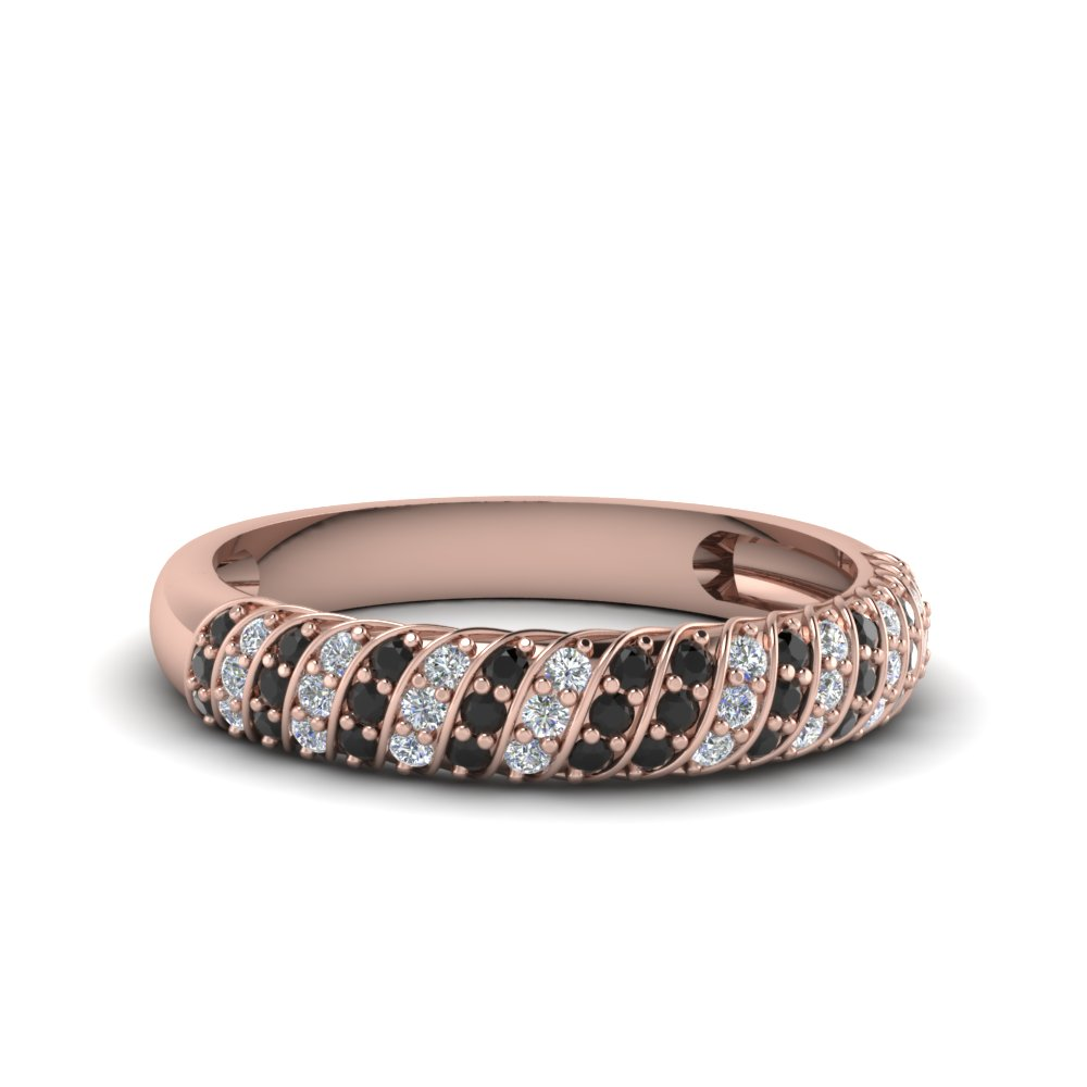Rope Design Black Diamond Band