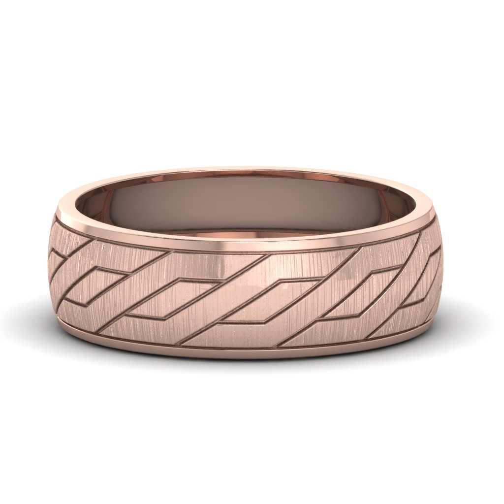 Satin Finish Mens Wedding Band