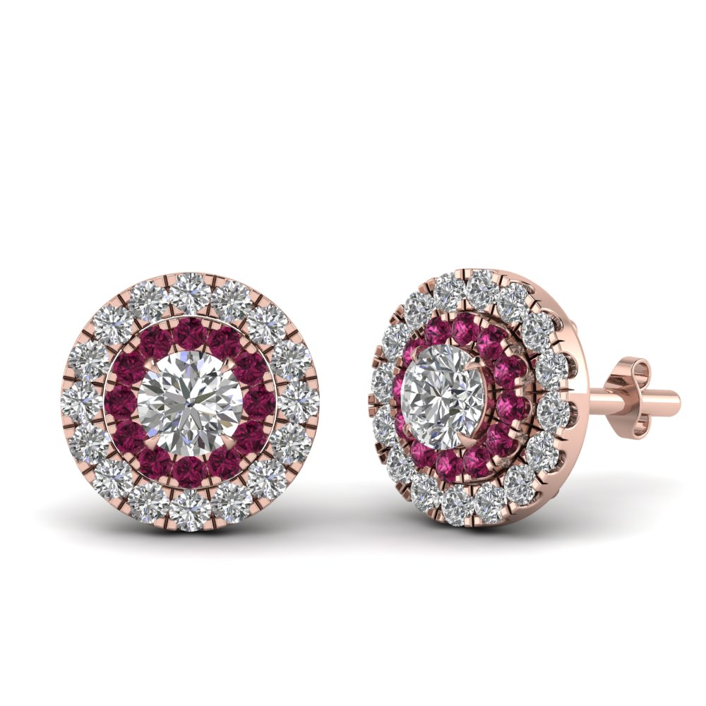 0.75-carat-diamond-halo-stud-earring-with-pink-sapphire-in-FDEAR9249GSADRPI-NL-RG