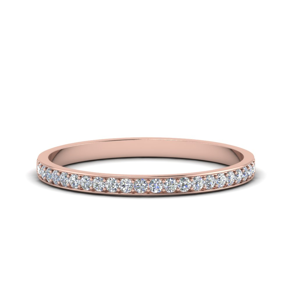 Thin Pave Wedding Band