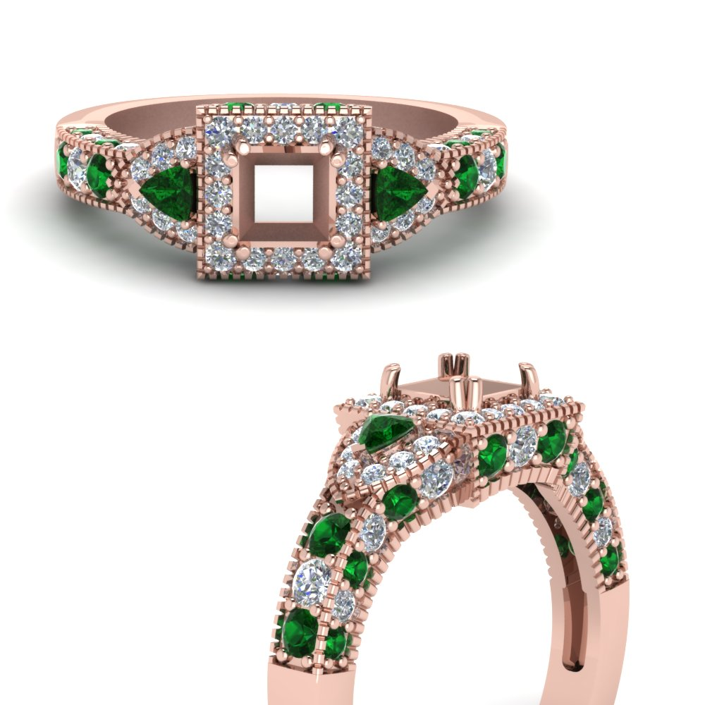 trillion-halo-semi-mount-diamond-engagement-ring-with-emerald-in-FDENR7784SMRGEMGRANGLE3-NL-RG