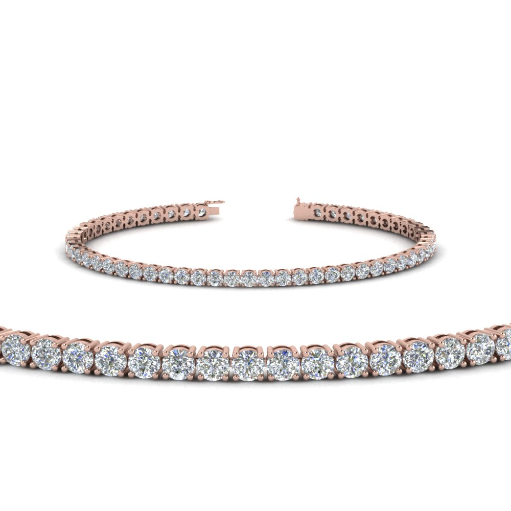 tennis diamond bracelet (4 Carat) in 14K rose gold FDBRC8637 4CT NL RG
