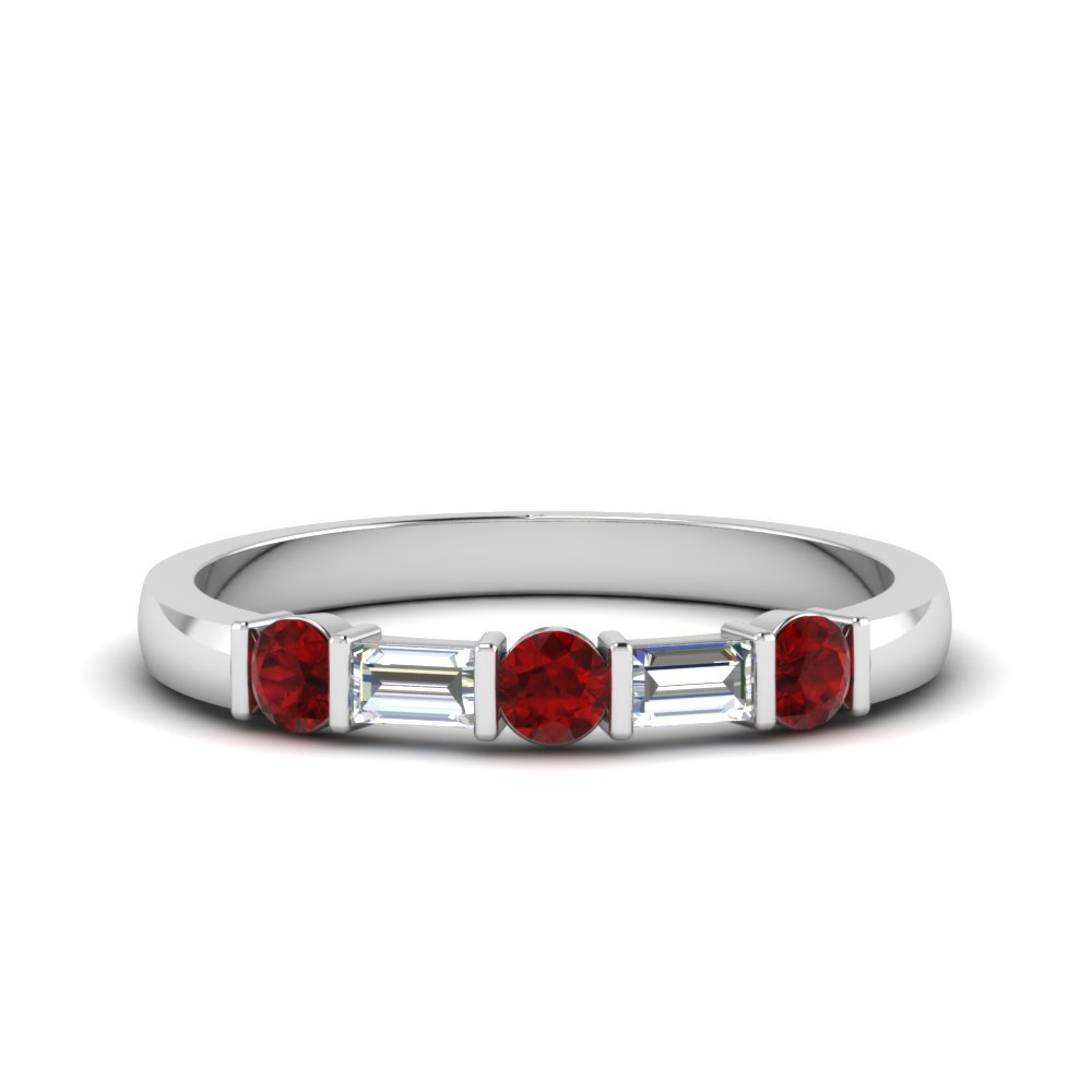 Bar Set Baguette Wedding Band