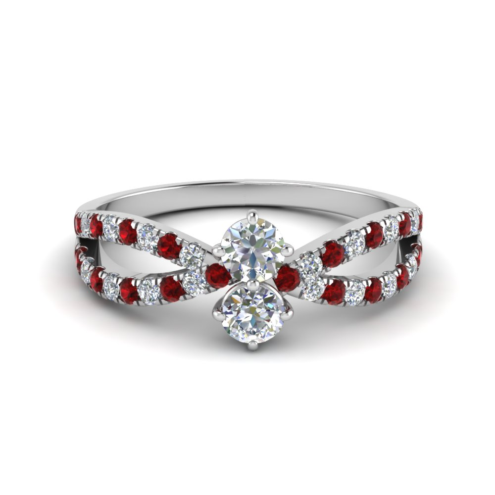 Ruby With French Prong Ring