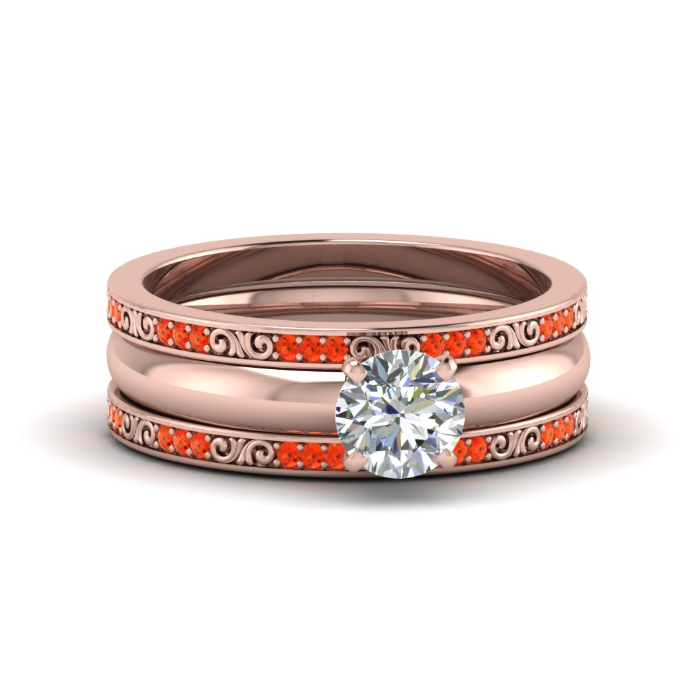 Trio Wedding Poppy Topaz Set