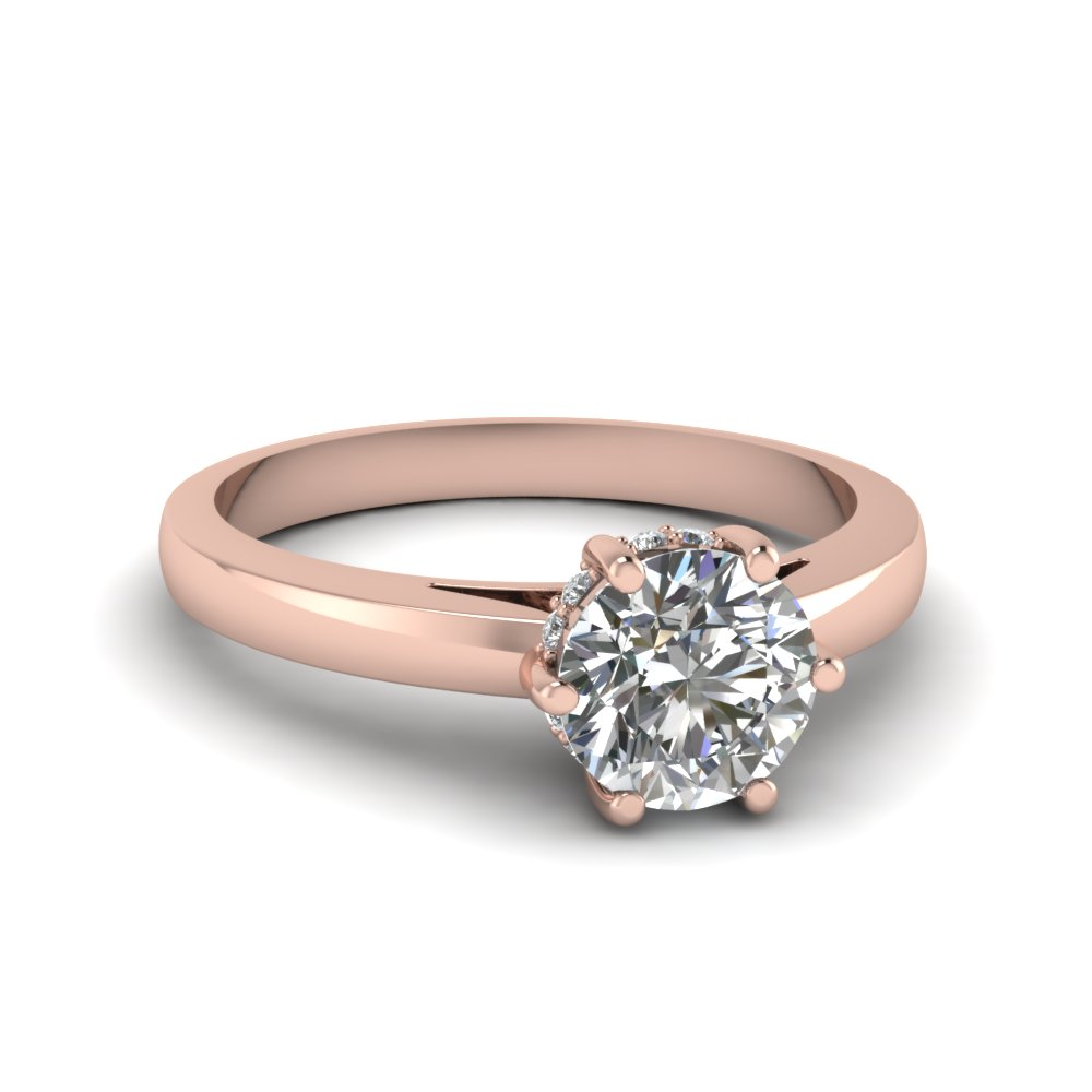 Round Engagement Rings 1/2 Ct.